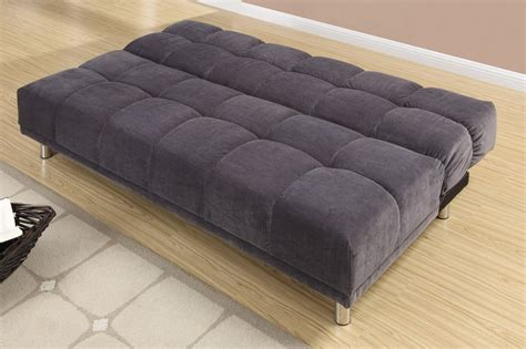 couch twin bed poundex f7010 grey twin size fabric sofa bed steal a