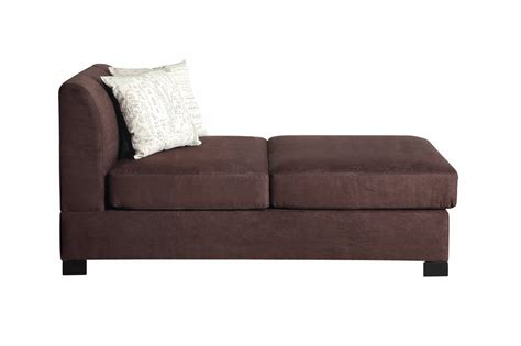 chaise fabric poundex nia f7979 brown fabric chaise lounge steal a