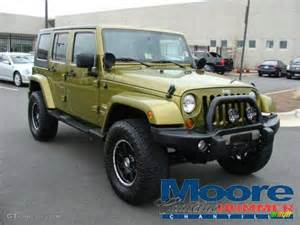 2007 rescue green metallic jeep wrangler unlimited