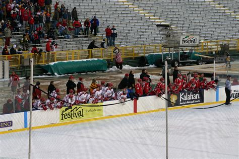 bench hockey frozen tundra hockey classic