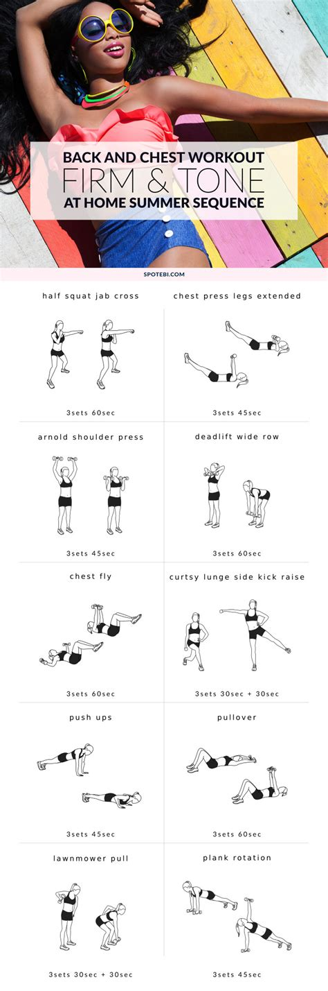 chest and back workout for