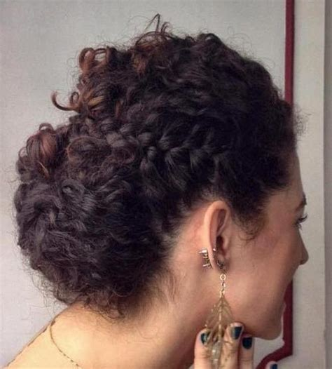 Hairstyles Updos For Curly Hair by 40 Creative Updos For Curly Hair
