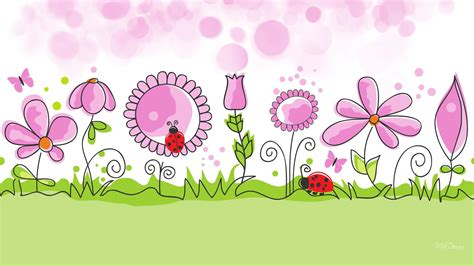 cute wallpaper vector free download hd flower garden spring vector free desktop background