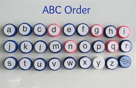 Letter In Order bottle caps abcs boy