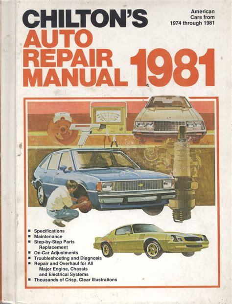 service manual chilton car manuals free download 1968 pontiac firebird windshield wipe control chilton s auto repair manual for all american cars built from 1974 thru 1981 801969565 ebay
