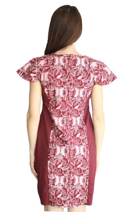 Baju Batik Aceh jual beli model baju batik dress kombinasi wanita cap asli