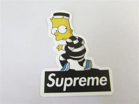 Bart Simpsons X Supreme free bart supreme sticker helmet car skateboard