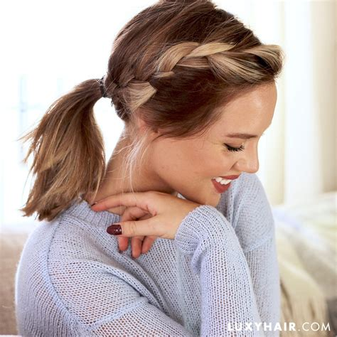 ponytails for short layers cute hairstyles for short hair and medium length hair