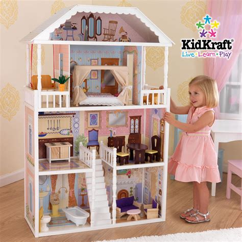 kidkraft wooden dolls house kidkraft savannah doll house at growing tree toys