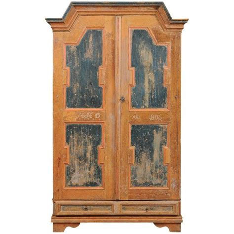 Painted Armoire For Sale by Early 19th Century Swedish Painted Armoire For Sale At 1stdibs