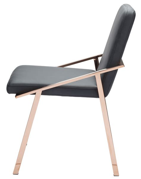 dining chair in black and polished gold by nuevo