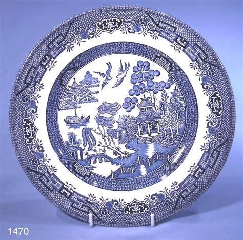 willow pattern image churchill chinese willow pattern china dinner plate sold