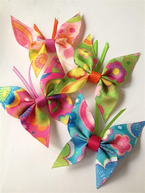 Ribbon Hair Pin hair pin butterflies made out of ribbon bows animals and