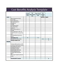 Simple Cost Benefit Analysis Template by 40 Cost Benefit Analysis Templates Exles Template Lab