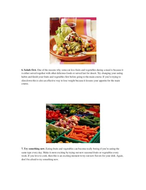 7 Ways To Eat More Fruits Veggies by Top 7 Ways To Eat More Fruits And Vegetables