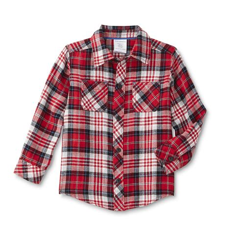 baby boy red and black checkered shirt toughskins infant toddler boy s flannel shirt red