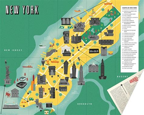 sightseeing map of nyc maps update 58022775 new york city map with tourist