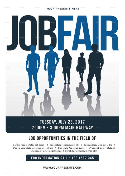 job fair flyer by lilynthesweetpea graphicriver