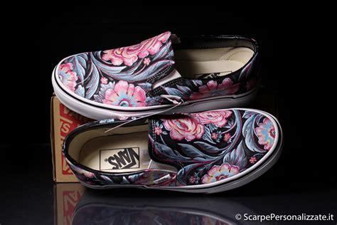 vans fiori vans personalizzate trama fiori scarpe personalizzate