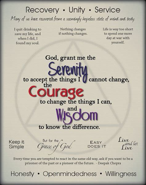 printable recovery quotes 1000 images about aa inspirational quotes prayers on