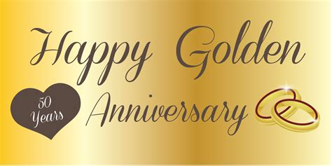 Wedding Anniversary Golden by Anniversary Banner Golden