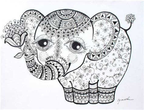 coloring pages abstract elephant photos coloriage elephant mandala coloriage pinterest