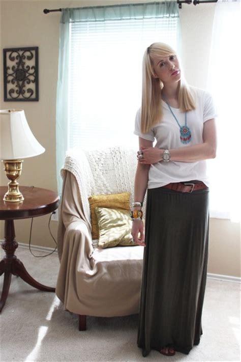army green maxi skirt max studio skirts white vs neck