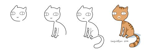 how to draw with doodle cat 1 how to draw a cat lingvistov doodle style lingvistov