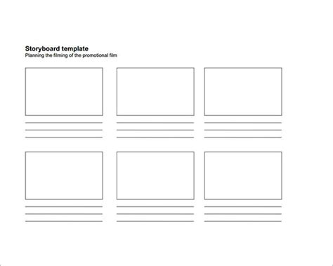 printable template storyboard sle free storyboard 33 documents download in pdf
