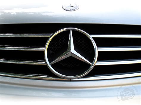 car mercedes logo mercedes benz logo free stock photo image picture