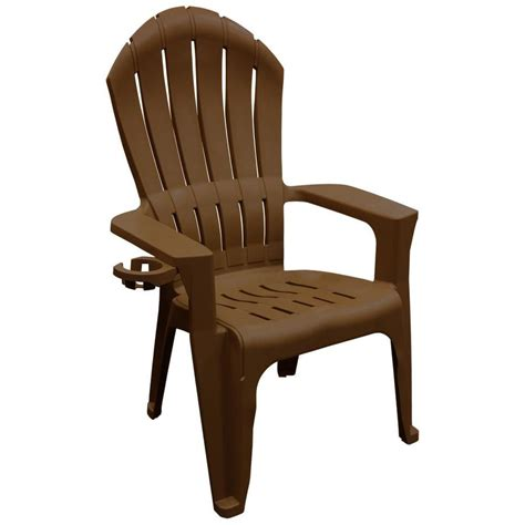 Stackable Adirondack Chairs by Shop Mfg Corp Earth Brown Resin Stackable Patio