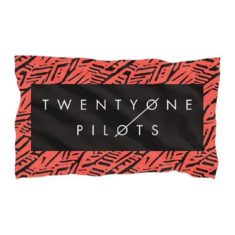Twenty One Pilots Pattern Frame Flag   pattern frame flag http store twentyonepilots com