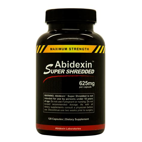 e supplements abidexin shredded weight loss boost metabolism