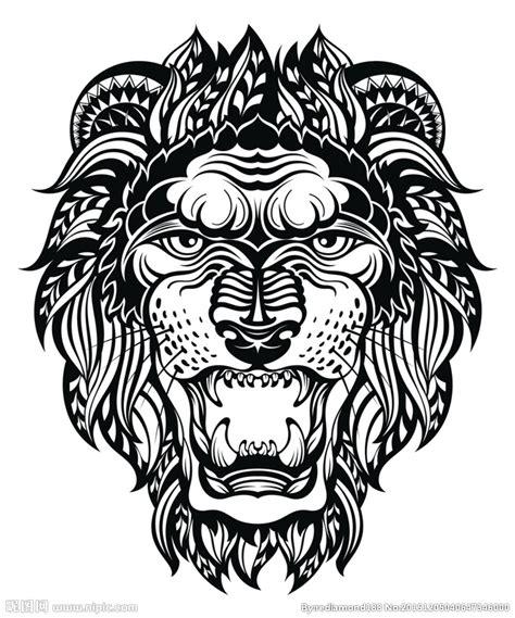 黑白剪影 矢量素材 图案 狮子设计图 野生动物 生物世界 设计图库 昵图网nipic com