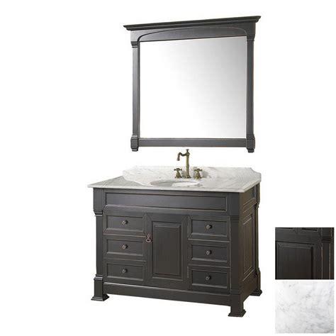 Shop Wyndham Collection 48 In Antique Black Andover Single Antique Black Bathroom Vanity