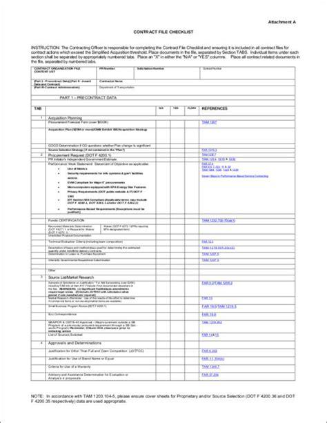 45 Sle Checklist Sles Templates Sle Templates File Checklist Template