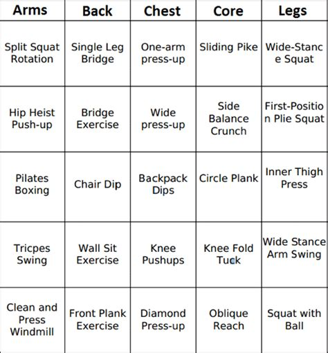 make a list how a simple practice can change our lives and open our hearts books make an easy exercise plan with workout bingo fitmomtv
