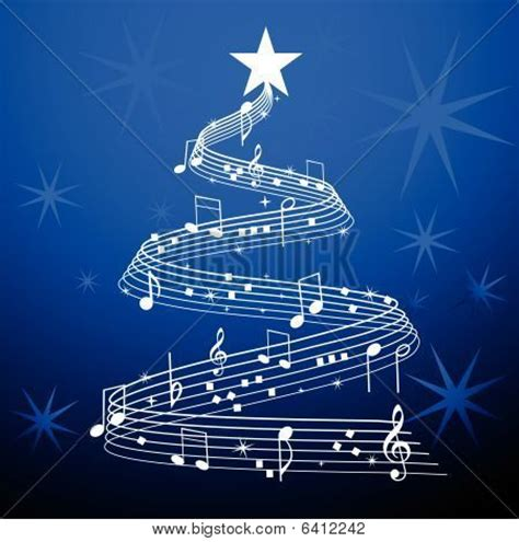 musical notes christmas tree image musical tree blue image cg6p412242c