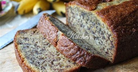 azie kitchen kek pisang   lembab