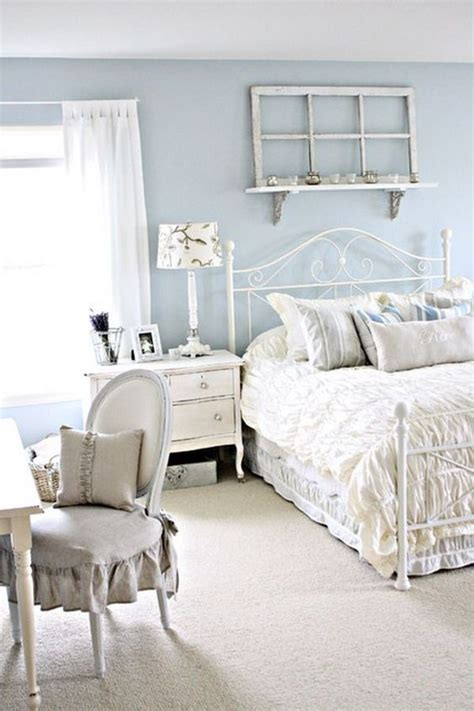 picture of serenity shabby chic bedroom with white furniture