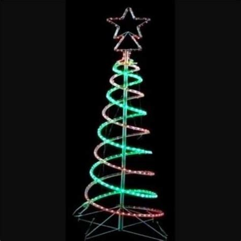 5 foot spiral rope light christmas tree flashing outdoor led and green rope light 3d spiral tree 1 5 metres