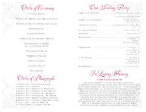 wedding program template microsoft word free printable wedding program templates microsoft word