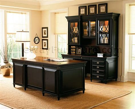American Federal Black Executive Desk Black Executive Office Desk