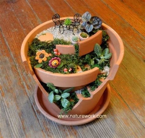 Clay Pot Planters natureworks miniature and gardening