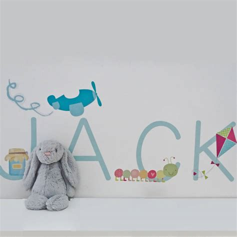 name wall stickers personalised name fabric wall stickers by littleprints notonthehighstreet