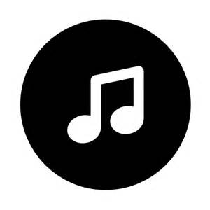 Music note in a circle vector icon music icons icons download