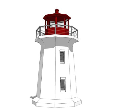 Your Very Own Lighthouse 44132td Beach Cad Available Lighthouse Home Plans Designs
