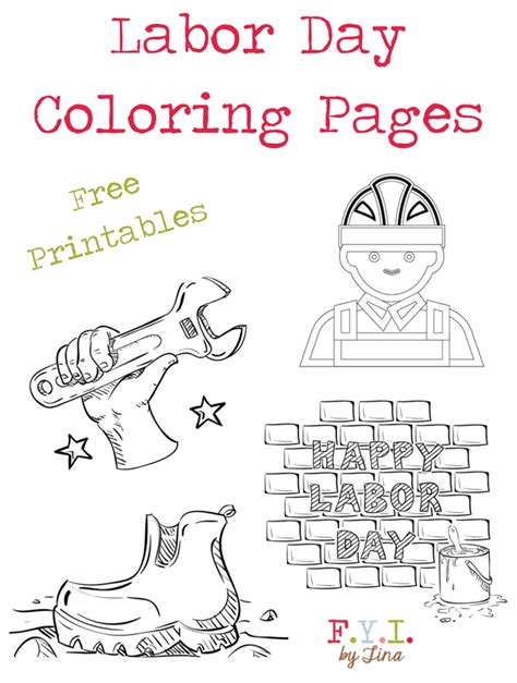 happy labor day coloring page flag printable coloring