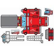 Il Camoion Dei Pompieri Da Stampare Ritagliare Montare E Incollare