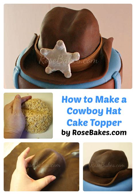 How To Make A Birthday Cake Out Of Paper - how to make a cowboy hat cake topper bakes